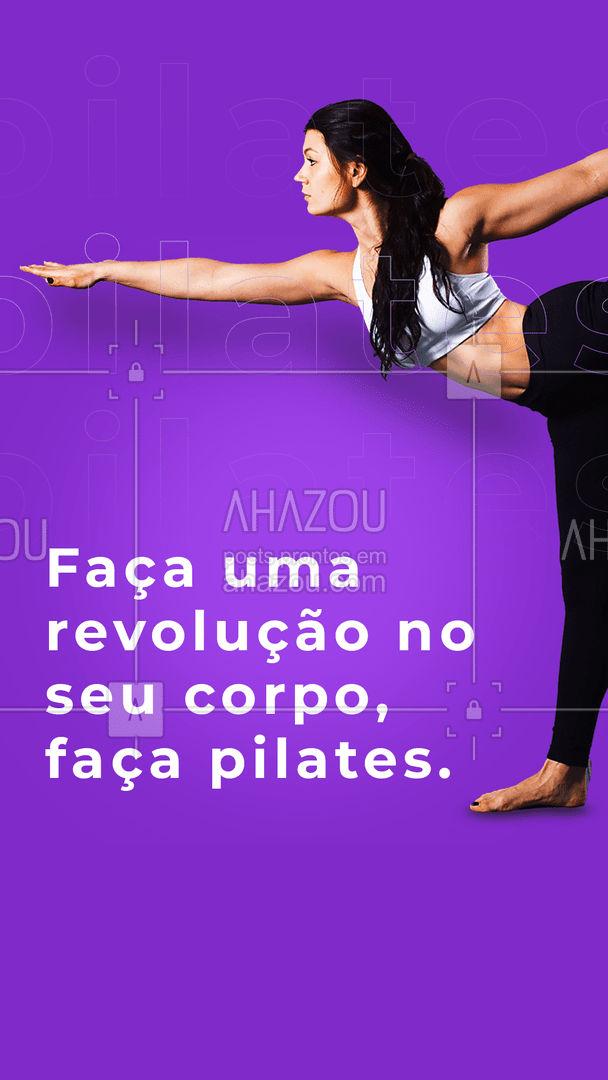 O seu corpo merece esse autocuidado! ?  #autocuidado #revolução #AhazouSaude  #pilates #pilatesbody #pilateslovers