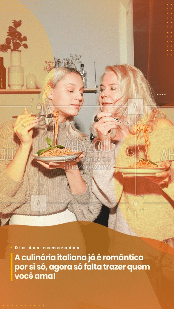 Venha se deliciar com as maravilhas da comida italiana com quem você ama! #ahazoutaste #pasta #restauranteitaliano #massas #italy #cozinhaitaliana #ahazoutaste