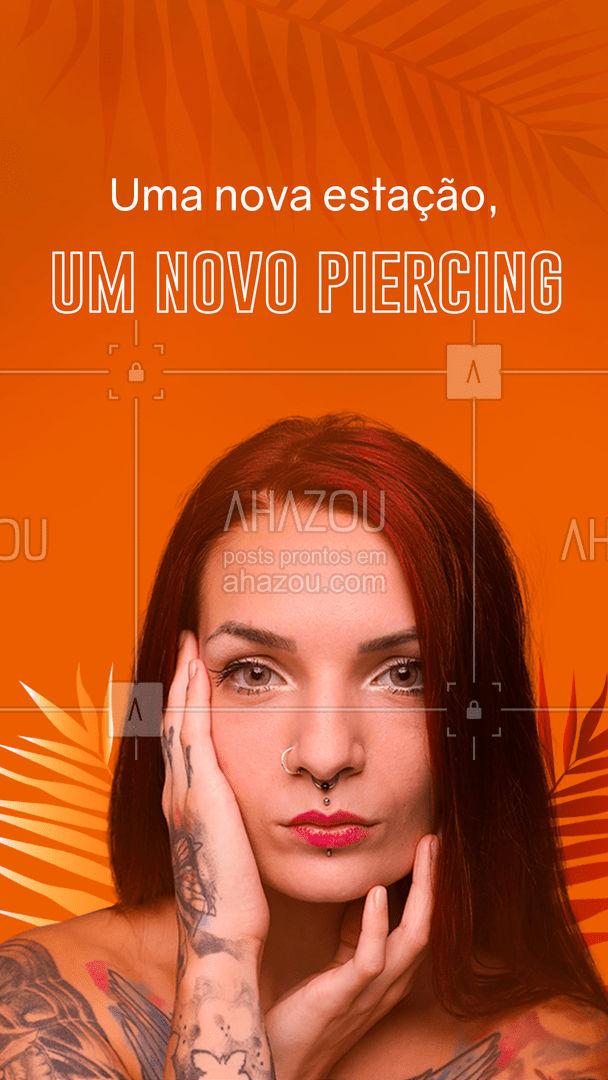 Porque no verão o sol é para todos, mas piercing é só pra quem tem estilo! ?? #verão #piercing #ahazouink #ink