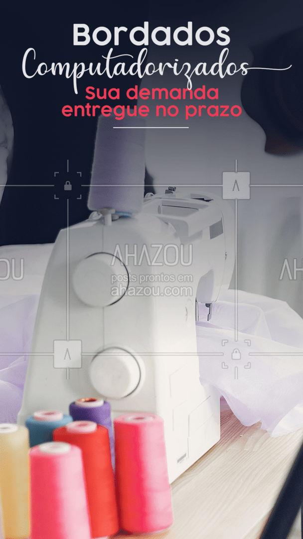 Tem uma demanda muito grande, mas o prazo é curto? Com a ajuda do bordado computadorizado a sua demanda é possível.  Graças a tecnologia, podemos produzir várias peças em um tempo menor. Procura velocidade, preço baixo e qualidade? Esse é o lugar que você quer.   #AhazouFashion #uniformes #bordadocomputadorizado #tecnologia #etiquetas