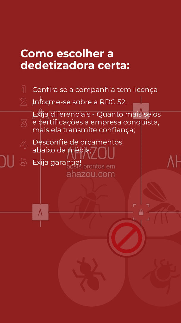 Tenha confiança na empresa que você irá contratar!?  #AhazouServiços  #dedetizacao #dicas #credibilidade #certificados #garantia #servicos