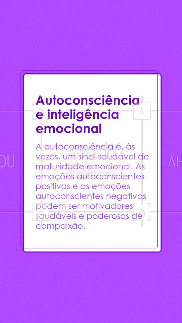É preciso estar atento/a aos seus sentimentos, a autoconsciencia te ajuda a equilibrar suas emoções porque ela trabalha com a sua autoanalise de sentimentos e emoções. Sentimentos extremos podem desencadear  sintomas ou condições como: ansiedade, depressão, transtorno de personalidade bipolar e isolamento social. ??    #AhazouSaude  #mentalhealth #viverbem #headspace #saudemental #autoconhecimento #emocional #inteligenciaemocional #autoconscienciaemocional