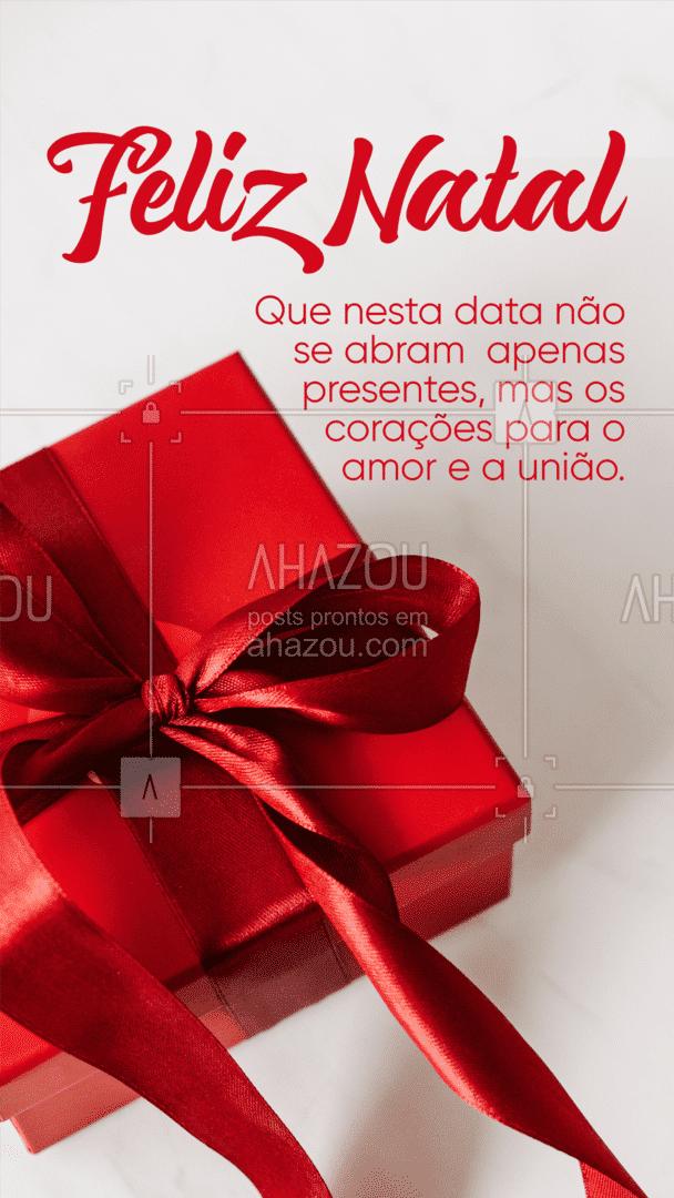 Feliz Natal! ✨  #ahazou #ahznoel #natal #feliznatal #coração #presente #amor #união