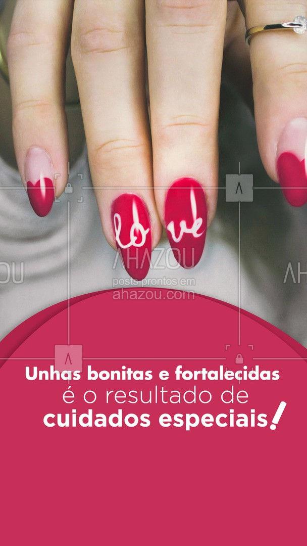 Suas unhas merecem todos os cuidados para crescerem lindas e fortalecidas! Marque seu horário! 💖💅 #AhazouBeauty #beleza  #unhas  #unhasdehoje  #nailart  #manicure  #pedicure  #nailsaloon