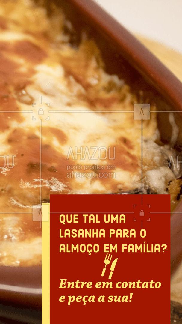 Seu almoço em família vai ficar ainda melhor com uma de nossas deliciosas lasanhas. Entre em contato e peça já a sua! #pasta #restauranteitaliano #massas #comidaitaliana #ahazoutaste #italianfood #italy #cozinhaitaliana #lasanha #ahazoutaste