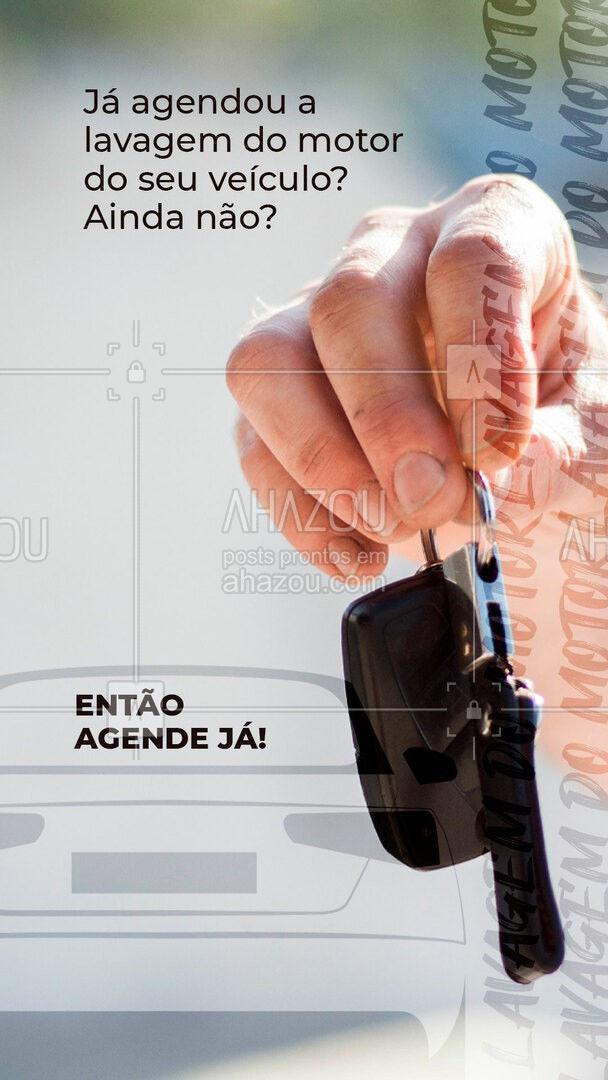 Não perca mais tempo, agende já a limpeza do motor do seu carro! Entre em contato ? (inserir número)! #esteticaautomotiva #automotivos #AhazouAuto #esteticaelavajato #servicoautomotivo #carros #lavagemdemotor