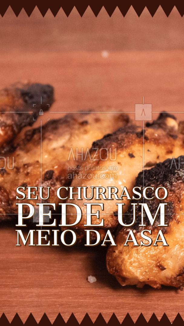 Só aqui você encontra meio da asa fresca e de qualidade, para arrasar no seu churrasco. #churrasco #ahazoutaste #açougue #meiodaasa #frango