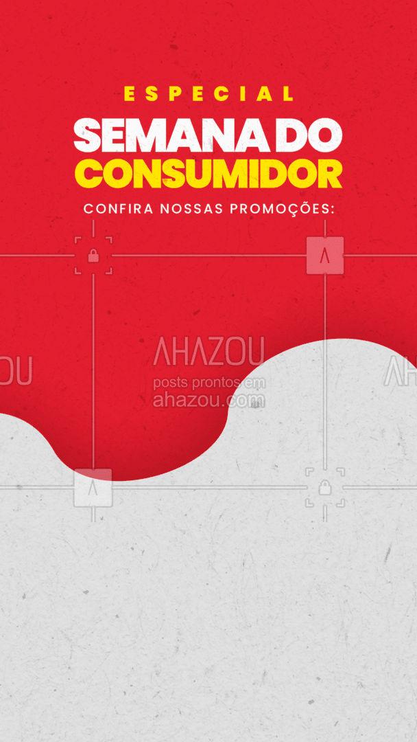Se liga nessas promoções especiais que a semana do consumidor trouxe pra você! Aproveita!! ? #AhazouTec   #eletrodomesticos #assistenciapc