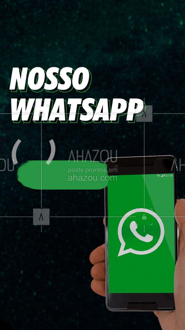 Nós respondemos você com aquela agilidade que você precisa! Entre em contato para tirar dúvidas, fazer seus pedidos e o que mais precisar! #Dicas #ahazou #Whatsapp