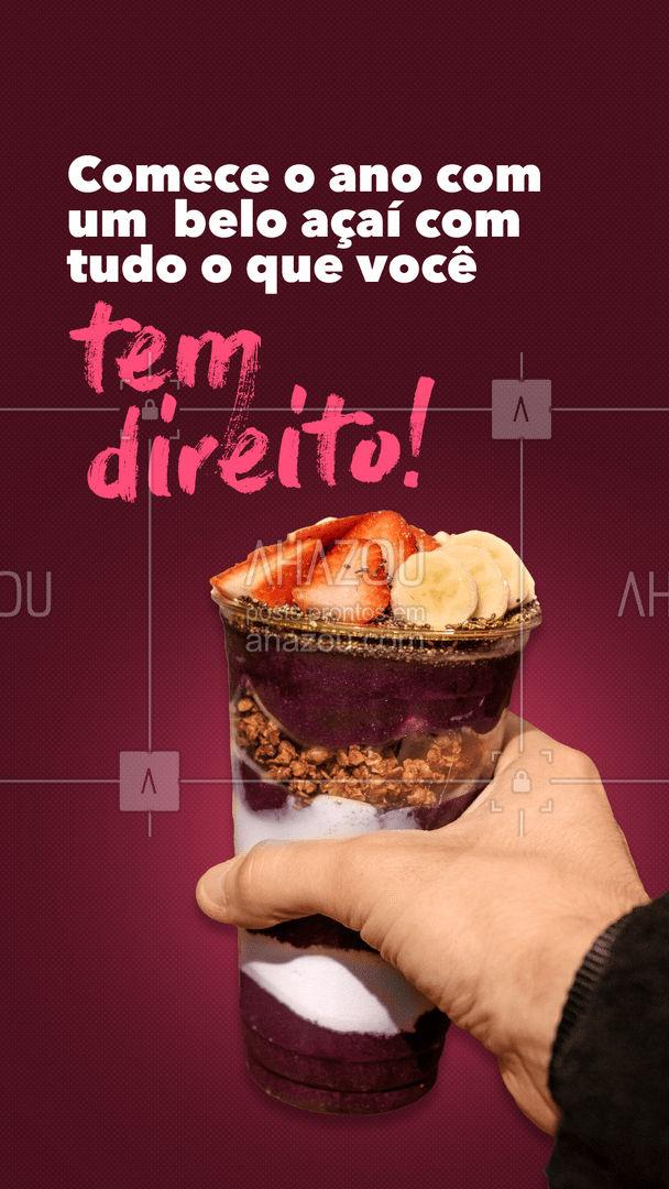Ano bom começa com açaí.??  #AhazouTaste #GelateriaeAçaí #FinaldeAno #Gastronomia #Açaí