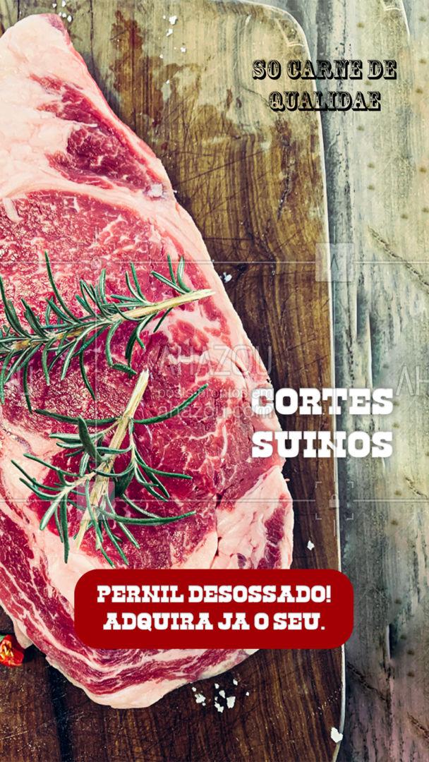 Temos pernil suíno desossado! Peça já o seu e se surpreenda com a qualidade e o preço justo!  #ahazoutaste #pernilsuino #carnesuina  #açougue #churrasco