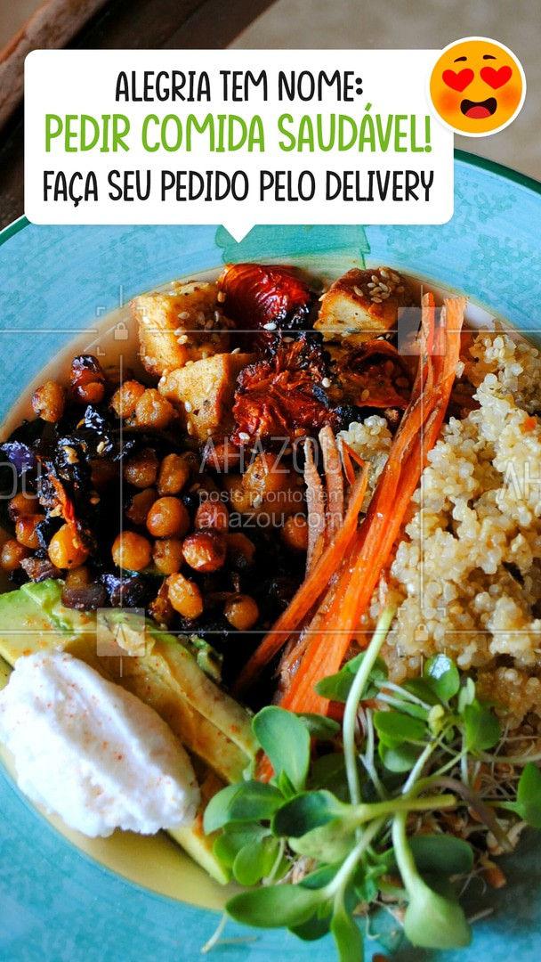 Pedir comida saudável ficou mais fácil! Peça pelo delivery! #ahazoutaste  #veggie #vegan #crueltyfree #fit #vegetariano #delivery #comida #saudável #saúde #pedido #online