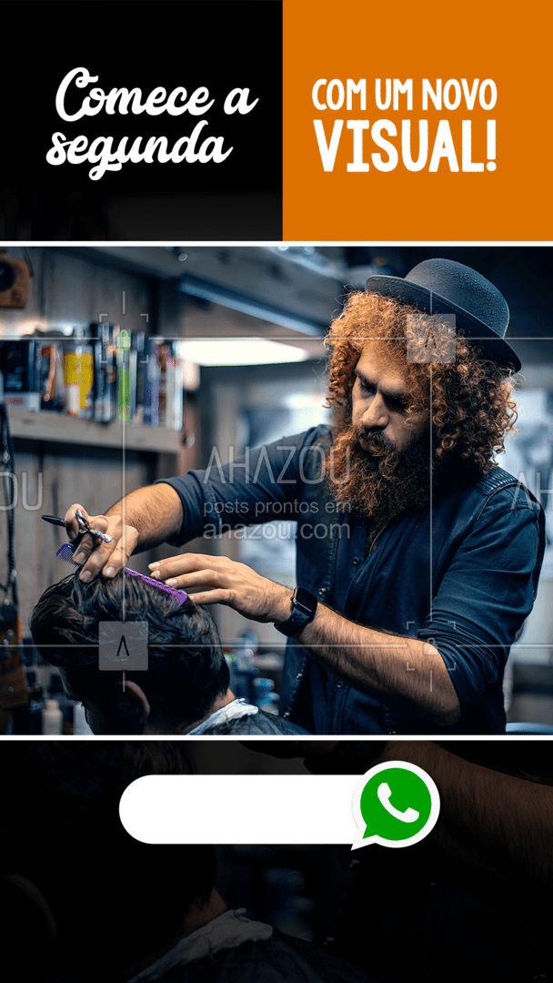Nada melhor do que começar a segunda com um novo visual, marque seu horário! #AhazouBeauty #barba #barbeiro #barbearia #barba #barber #barberShop #barbeiro