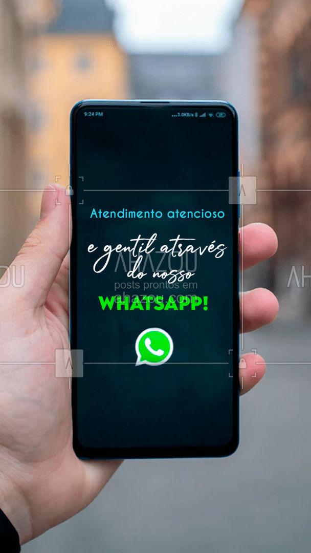 Você irá se surpreender com nosso atencioso atendimento. Nos chame já! #ahazou #atendimento #whatsapp #zap #comunicado #ahazou