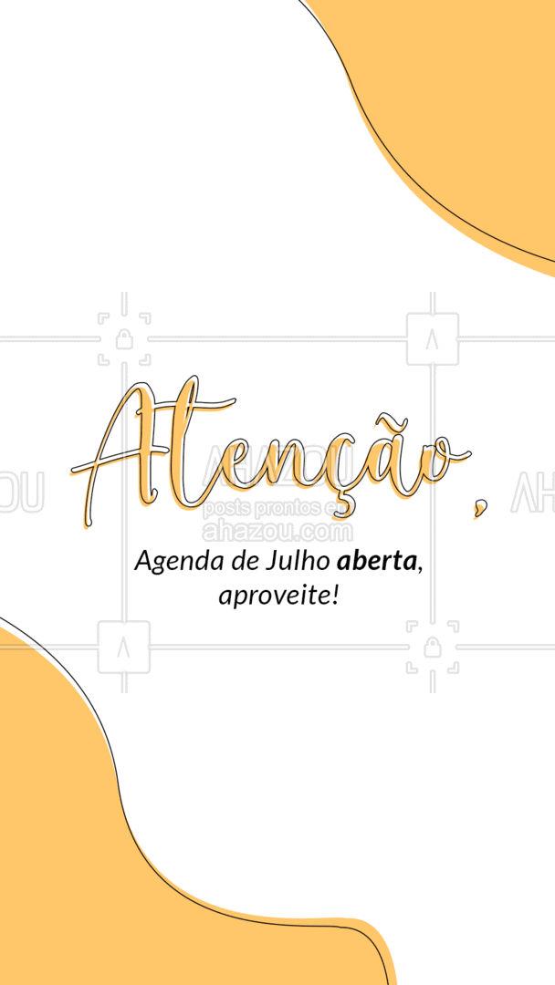 Reserve seu horário, estamos ansiosos para atende-lo. ? #ahazou #agendadeJulho #novoshorários #horáriosdisponíveis #reservarhorário