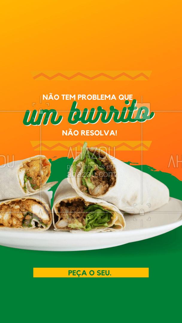 Nossos deliciosos burritos estão só esperando você fazer o seu pedido!   #ahazoutaste #burrito  #comidamexicana #cozinhamexicana #vivamexico #texmex #nachos