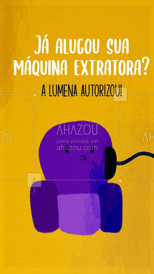 Se a Lumena autorizou, tá autorizado!  Bora higienizar o seu sofá e tapete para ficar ligadinho na tv? #AhazouServiços #limpeza #tapete #maquinaextratora #bbb #engracado