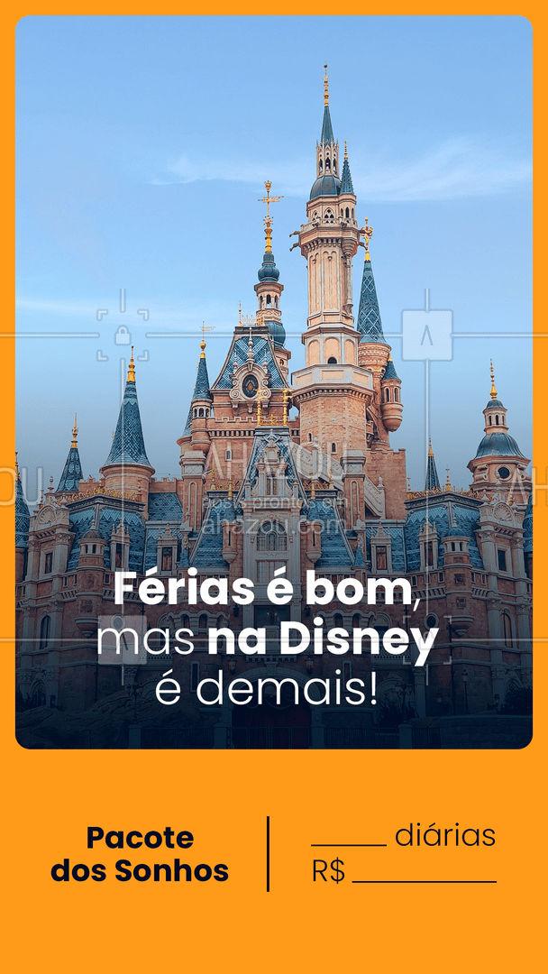 Aproveita esse pacote dos sonhos para as melhores férias virarem realidade! Vamos à Disney! Qual será a data? Entre em contato: ? (preencher) #AhazouTravel #agentedeviagens #viageminternacional #viajar #trip #viagem #agenciadeviagens #viagens #AhazouTravel