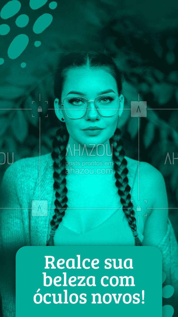 Realce o que você tem de melhor! Temos o modelo perfeito pra você ?? #óculos #glasses #AhazouÓticas