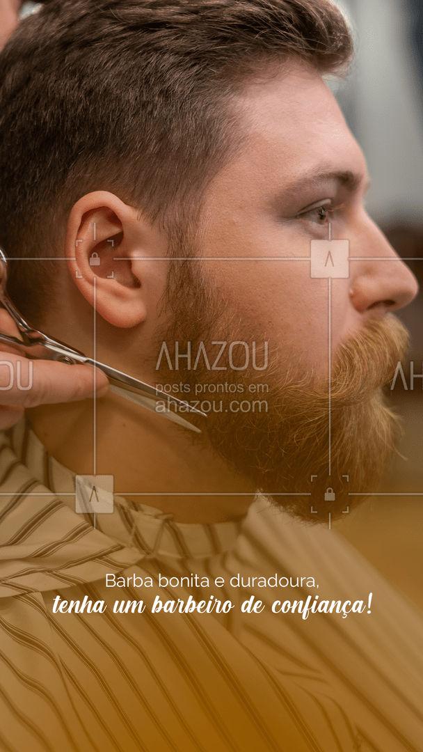 Aqui temos barbeiros disponíveis pra deixar a sua barba da melhor forma possível! #Barbearia #AhazouBeauty #Frase
