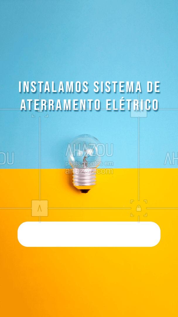 Fazemos instalação para imóveis residenciais, comerciais e indústrias.  #AhazouServiços #eletricista #eletricidade #eletrica #serviços #serviçosparacasa #visita