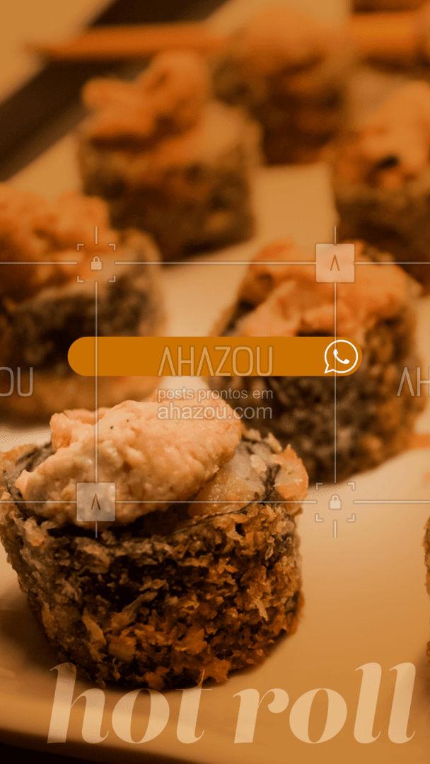 Pra que passar vontade se você pode comer o melhor hot roll da região aí na sua casa? Faça seu pedido! #ahazoutaste  #japa #sushidelivery #comidajaponesa #sushilovers #sushitime #japanesefood #pedido #delivery #online #hotroll