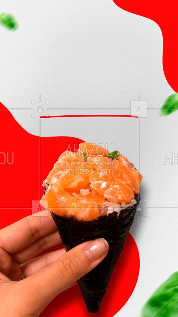 Nossos saborosos Temakis estão esperando por você! Peça já o seu! ?? #ahazoutaste #sushidelivery  #japa  #sushitime #temaki #temakiday #comidajaponesa