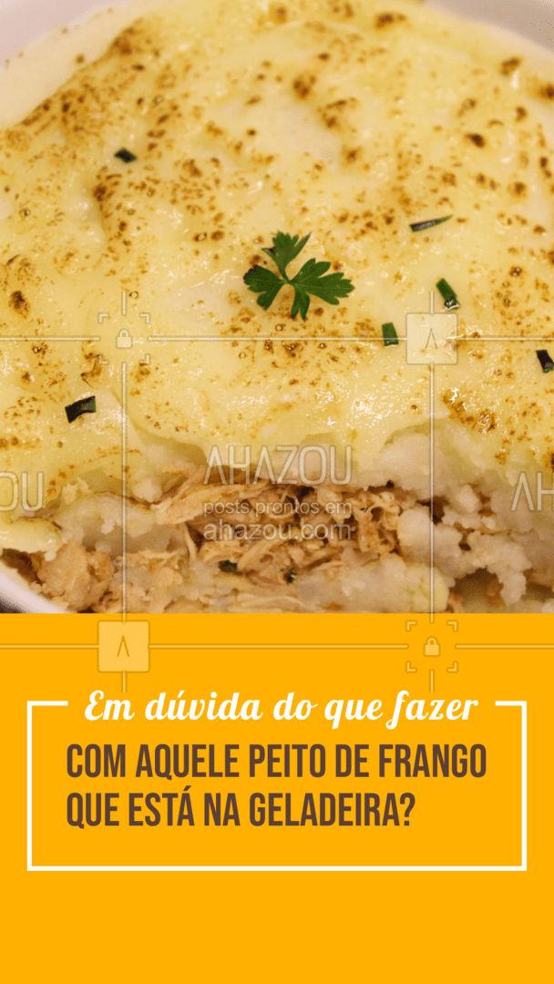 Que tal variar o seu cardápio e fazer um delicioso escondidinho de frango? Simples e fácil, o escondidinho vai agradar a todos, e você ainda consegue sair do básico de sempre! #açougue #dicas #promododia #frango #ahazoutaste #cortes #meatlover