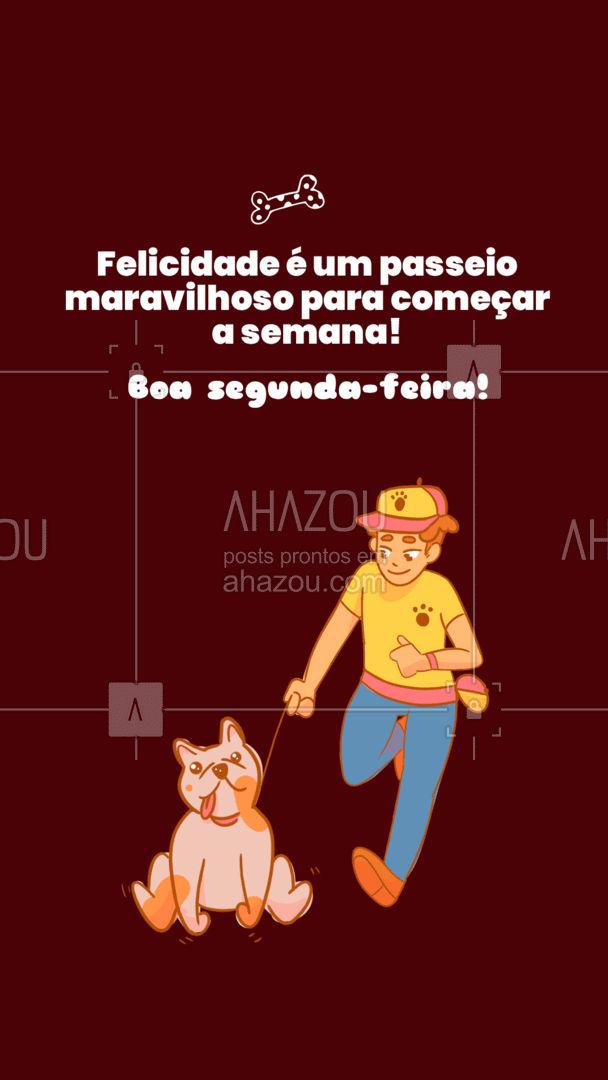Nada mais gratificante que ver seu pet feliz depois de um passeio divertido, não é mesmo? Então não perca tempo, agende um horário! #dogwalkersofinstagram #dogsitter #petsitting #AhazouPet #dogtraining #dogwalk #doglover #dogwalker #segundafeira
