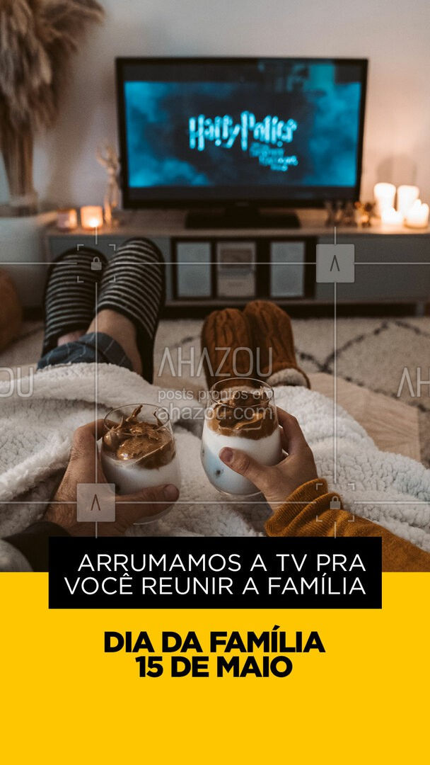 Uma das melhores coisas da vida é reunir a família na frente da TV e assistir o seu programa favorito. Não perca essa experiência! A tv quebrou? Deixa que a gente arruma. ??#AhazouTec #família #diadafamilia