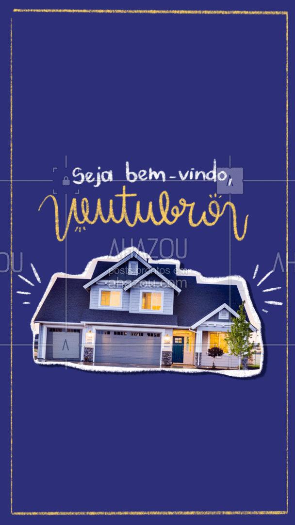 Que esse mês traga muita renovação e energias boas para você e seu lar! #residencia #conserto #servico #servicosparacasa #AhazouServiços #servicos #manutença #limpeza #reparos #outubro #bemvindooutubro #bemvindo