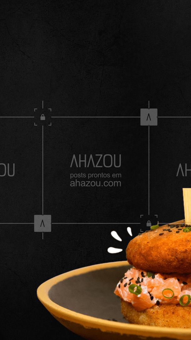 E você com certeza pede um delivery! ? #sushilovers #sushiburger #ahazoutaste  #comidajaponesa #sushitime #sushidelivery #japa