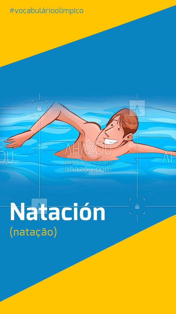 Os estilos de natação dividem-se em quatro: crawl, costas, peito e borboleta 🏊♂ #natação #olimpiadas #competição#EspecialOlimpíadas #espanhol #dicas #spanish
