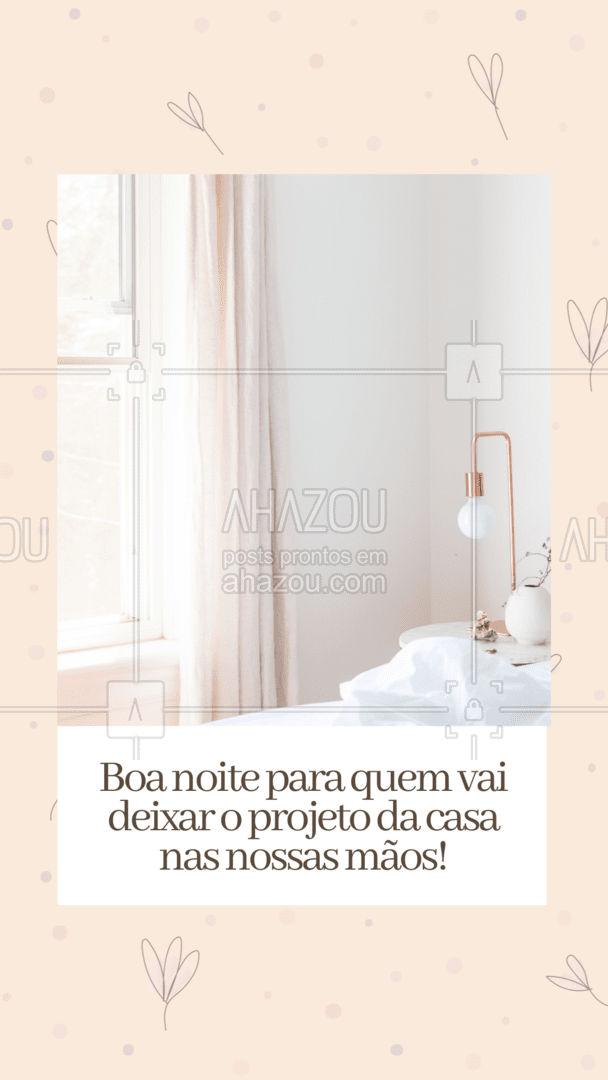 Deixe o projeto com a gente e durma sem preocupações. Boa noite! #boanoite #arquitetura #design #decoração #AhazouDecora #AhazouArquitetura #arquiteto  #designdeinteriores