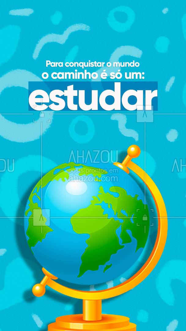 O conhecimento pode abrir muitas portas e te ajudar a conquistar o mundo todo, basta você acreditar! ?? #AhazouEdu #educação #aulaparticular #professorparticular #concursopúblico #cursinho #motivacional #quote