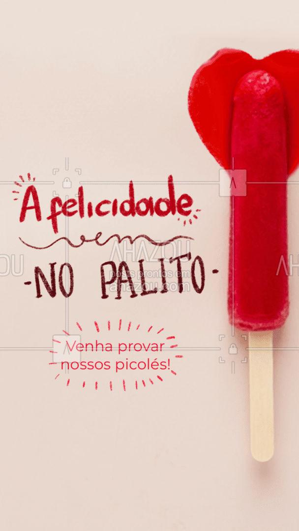 Com certeza picolé traz felicidade! Refrescante e saboroso! #ahazoutaste #picole  #sorveteria #icecream #sorvete