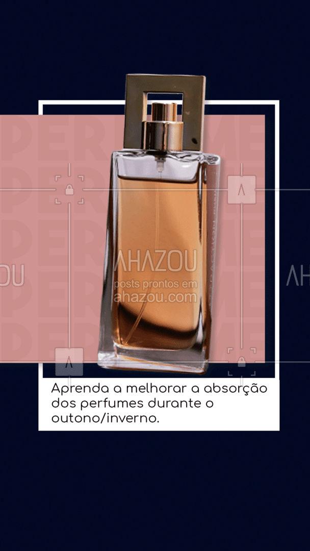 Durante os períodos mais frios do ano, é comum que a pele fique mais ressecada, o que pode interferir na absorção do perfume, o que acaba reduzindo o tempo de duração do perfume na pele. Uma boa dica é usar um bom hidratante, de preferência sem cheiro, antes de borrifar o perfume. Uma dica bônus é evitar passar o perfume nas roupas. 😍#AhazouRevenda #dicasdeperfumes #outono #inverno #revendadeprodutos #consultoradebeleza #produtosdebeleza #encomenda