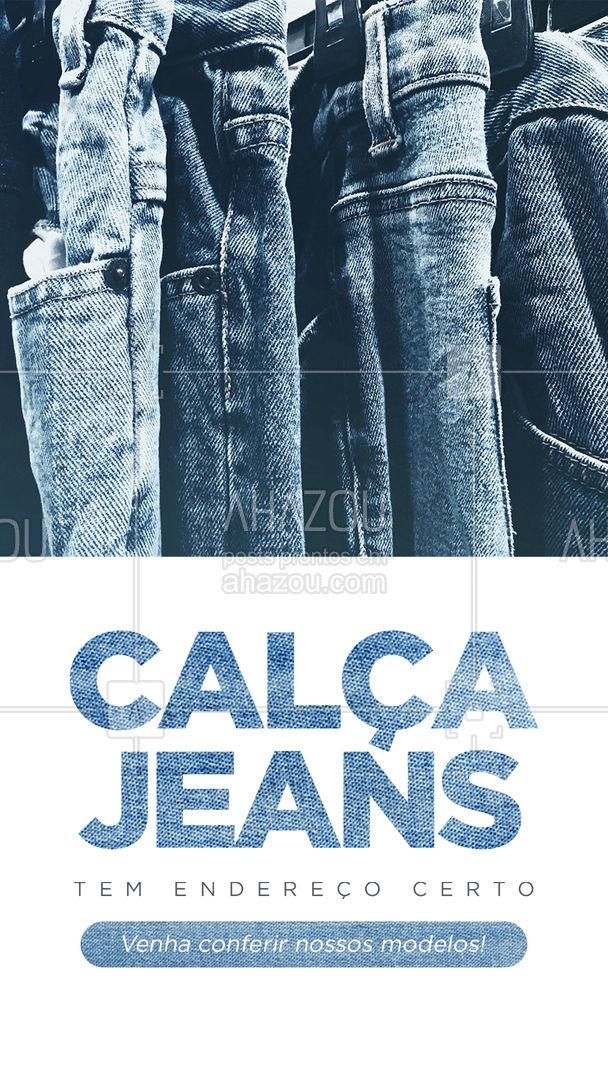 Aproveite para dar uma passada na nossa loja para conferir a variedade de modelos e cores.  👖 #AhazouFashion #modaparahomens #modamasculina #menswear #calcajeans #jeansmasculino