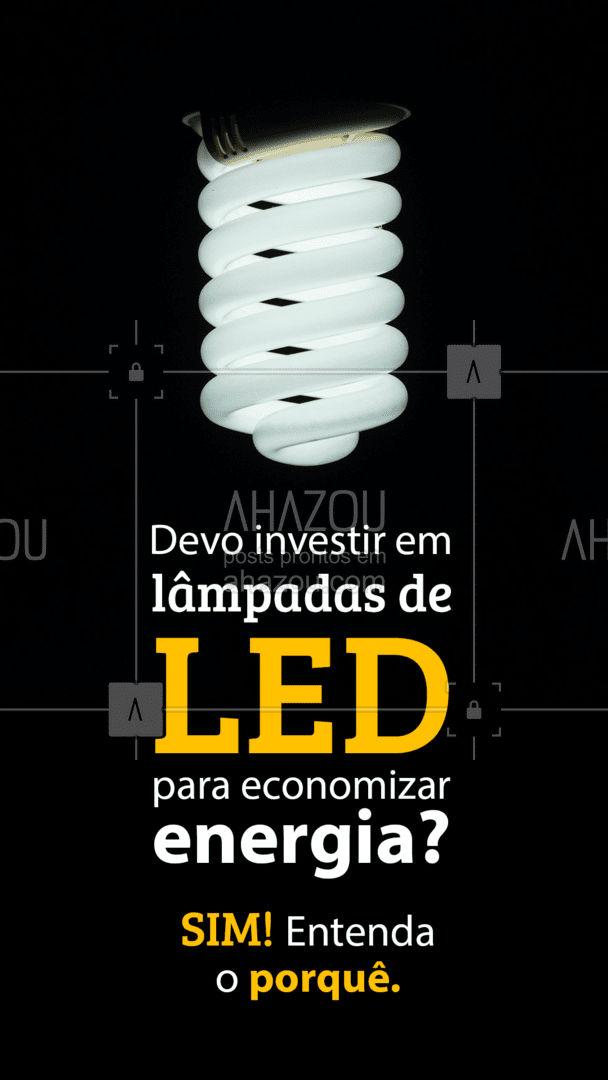 Mesmo custando mais caro do que as tradicionais, as luzes de LED gastam 80% menos do que as outras lâmpadas disponíveis no mercado, gerando uma boa economia no seu bolso! ? #lampadadeled #led #AhazouServiços #pedreiro #dicasdecasa #obra #construção