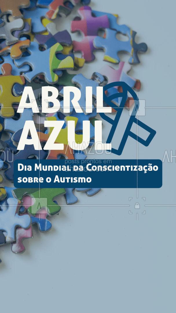 Participe dessa campanha! Informe-se, aprenda e cheque fontes confiáveis para aumentar a conscientização e combater a ignorância sobre o Autismo!  #ahazou #autismo  #abrilazul  #frasesmotivacionais #motivacionais