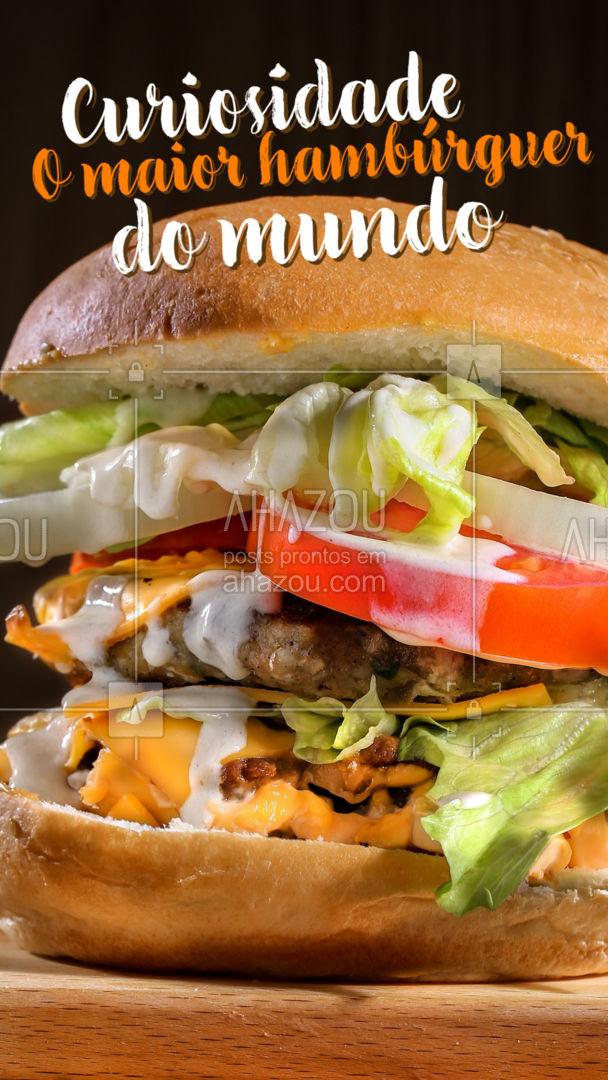 Segundo o Guinness Book, em 9 de julho de 2017 foi criado o maior hambúrguer do mundo. Seus criadores são: Wolfgang Leeb, Tom Reicheneder, Rudi Diehl,Josef Zellner, Hans Maurer e Christian Dischinger, o lanche que continha três enormes discos de carne, tomates, alfaces, pepinos, cebolas, molho de hambúrguer e um pão, pesava 1.164,2 kg. Eaí, você sabia disso? #ahazoutaste #hamburgueria #burger #burgerlovers