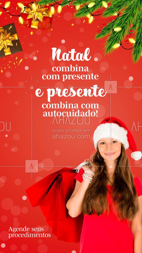 Neste Natal, se mime, cuide de você! ?? #PresentedeNatal #Natal #AhazouBeauty  #estetica #beauty #beleza