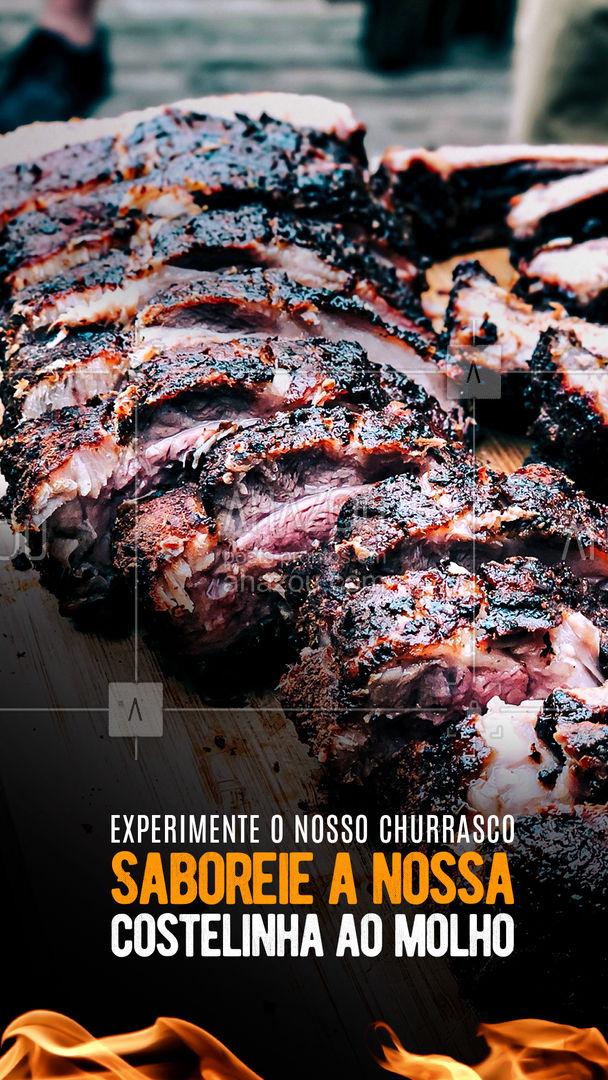 Um sucesso no nosso churrasco é a costelinha, ela desmancha na boca e leva ainda um delicioso molho 😋 #ahazoutaste #costelinha #molho #churrasco #carne #convite