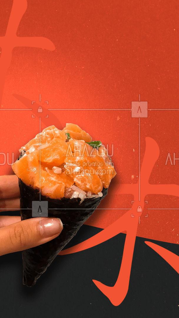 Dúvida pra quê? Experimente nosso temaki e se apaixone! ? #ahazoutaste  #japa #comidajaponesa #sushidelivery #sushilovers #sushitime #japanesefood #temaki #pedido #delivery #entrega #experimente