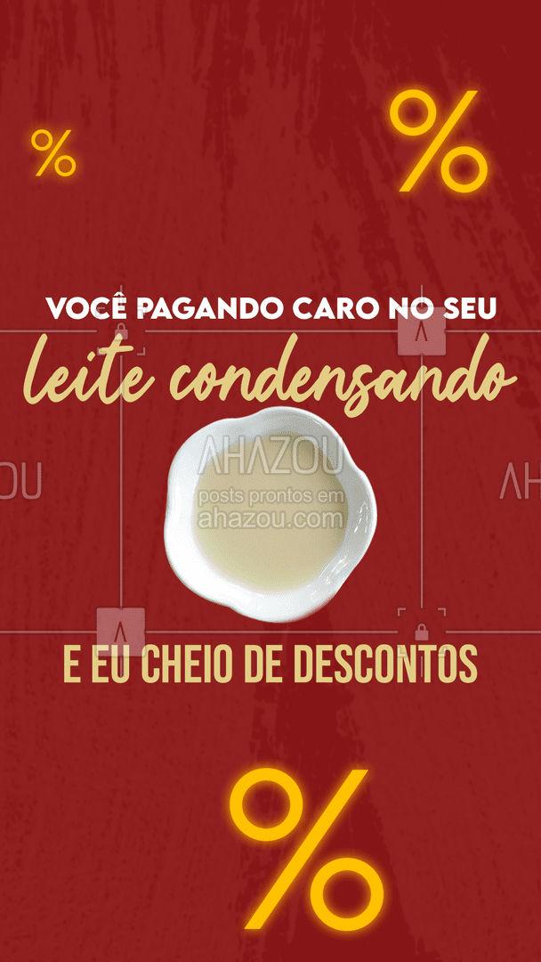 Tá vacilando hein!?  Vem aproveitar essas promoções!  ?  #ahazou #engracado #leitecondensado #fraseengracada #meme2021 #tendencia2021