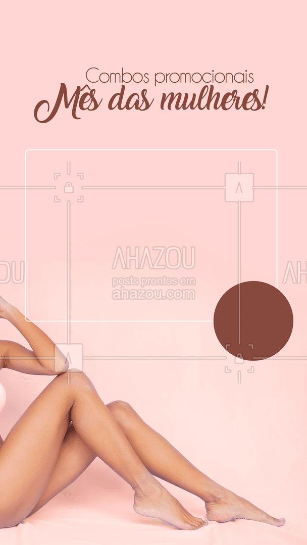 Nós preparamos combos fantásticos de procedimentos que podem te ajudar a ficar ainda mais linda, confira algumas opções: [Inserir promoção/porcentagem de desconto] ?? #AhazouBeauty #bemestar #epilação #beleza #depilação #depilaçãoalaser