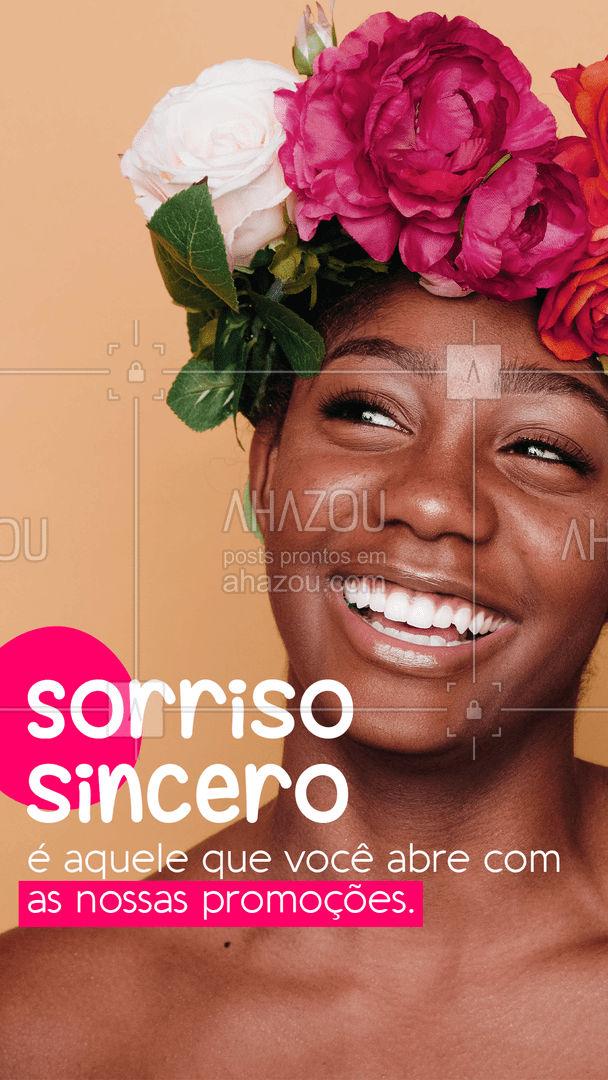 Nós amamos nossas promoções tanto quanto nossos clientes. Tudo pro nosso cliente sorrir! #DiaDoSorriso #AhazouServiços #Promoção