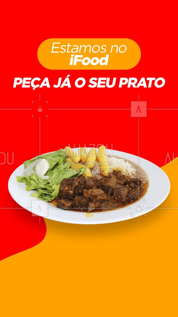 O seu prato favorito a uma entrega de você. Peça já pelo ifood!#ifood #alacarte #selfservice #restaurante #ahazoutaste