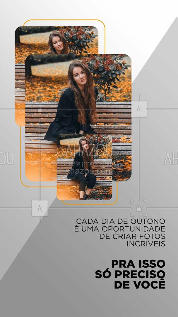 Vamos fazer um ensaio fotográfico? ??  #Fotografia #AhazouFotografia #Dicas #Outono #Fotos #FotografiaProfissional