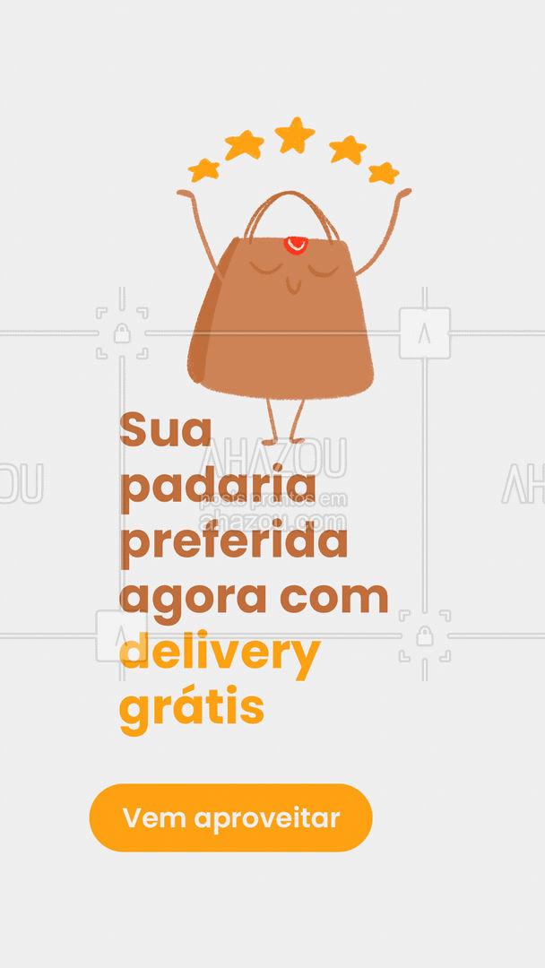 Essa combinação é perfeita, borá encher o carrinho porque o delivery é por nossa conta ?#ahazoutaste #padaria #panificadora #pão #delivery #gratis #gratuito #entregas
